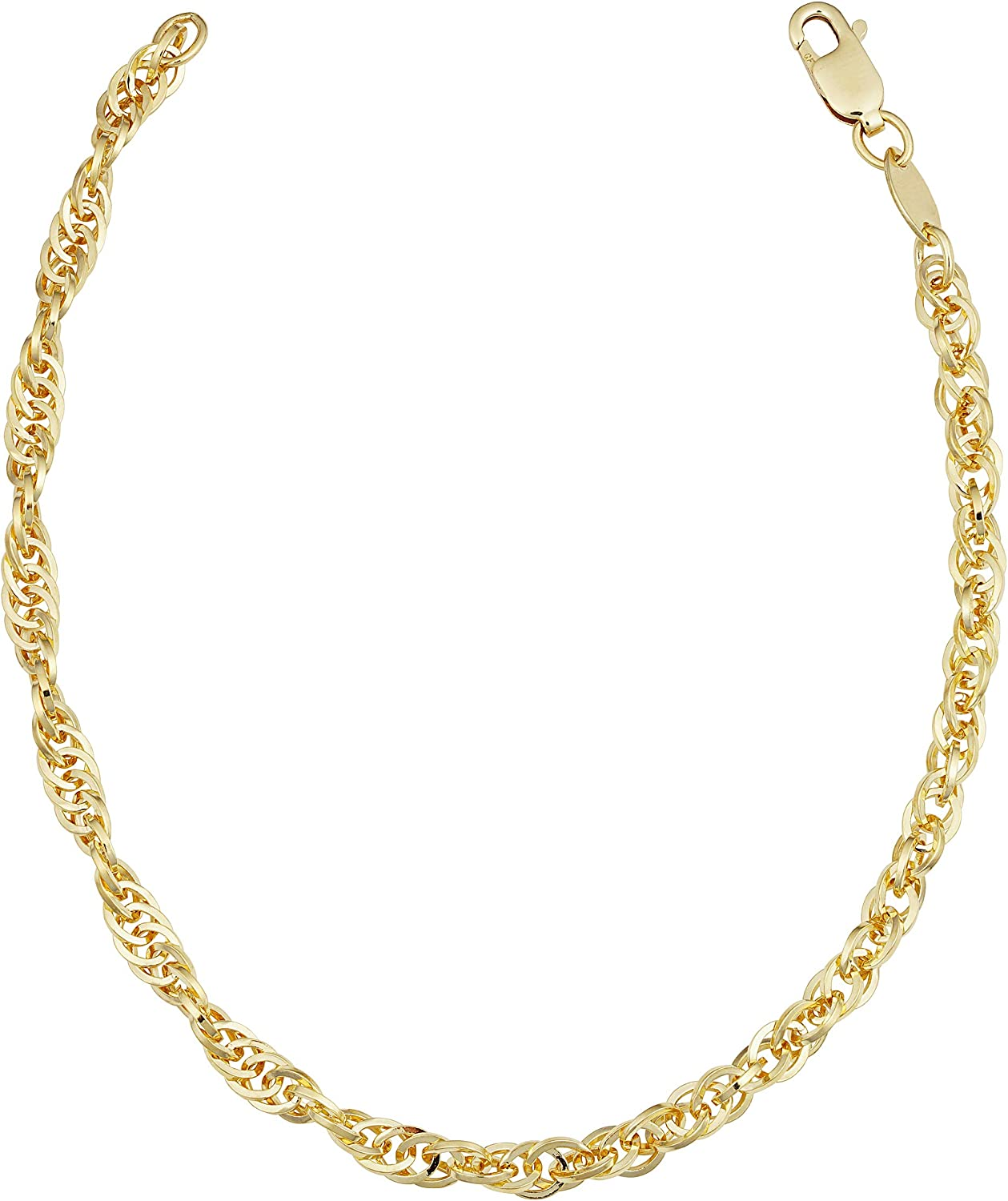 14k Max 89% OFF Yellow shopping Gold Filled Double Cable for Bracelet Wome Link Chain
