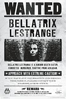 "Trends International Wizarding World: Harry Potter-Bellatrix Wanted Poster, 22.375"" x 34"", Unframed Version"