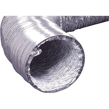 "Deflecto Flexible Foil Dryer Transition Duct, 4"" x 5', (F0405B/4)"