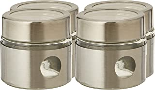 Harmony Table Top 5 Pieces Set (4 Pieces Glass Spice Jar with Metal Stand), 29.5 x 7.5 x 9 cm/85 ml, 89100