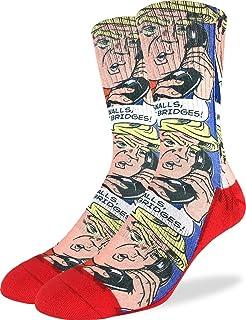 Good Luck Sock Men's Donald Trump Pop Art Socks - Red, Adult Shoe Size 8-13