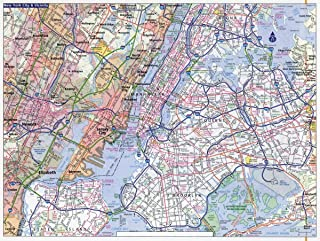 Gifts Delight Laminated 32x24 Poster: Large Detailed Road map of New York City. New York City Large Detailed Road map