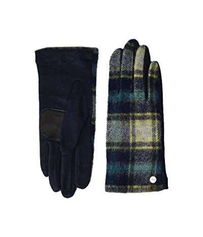 Echo Design Heritage Plaid Gloves Water Replellent Palm (Navy) Extreme Cold Weather Gloves