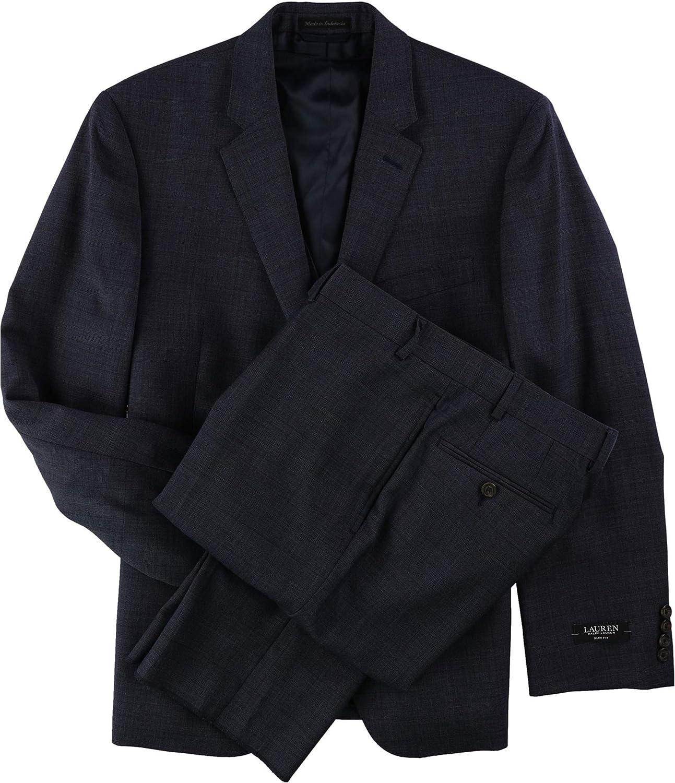Ralph Lauren Mens Vested Formal Tuxedo, Blue, 42 Short / 36W x UnfinishedL