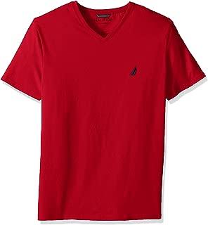Men's Short Sleeve Solid Slim Fit V-Neck T-Shirt