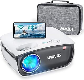 Proyector WiFi, WiMiUS 5800 Proyector de Video Portátil Proyector Soporta 1080P, 720P Proyector Nativo Cine en Casa 70,000...