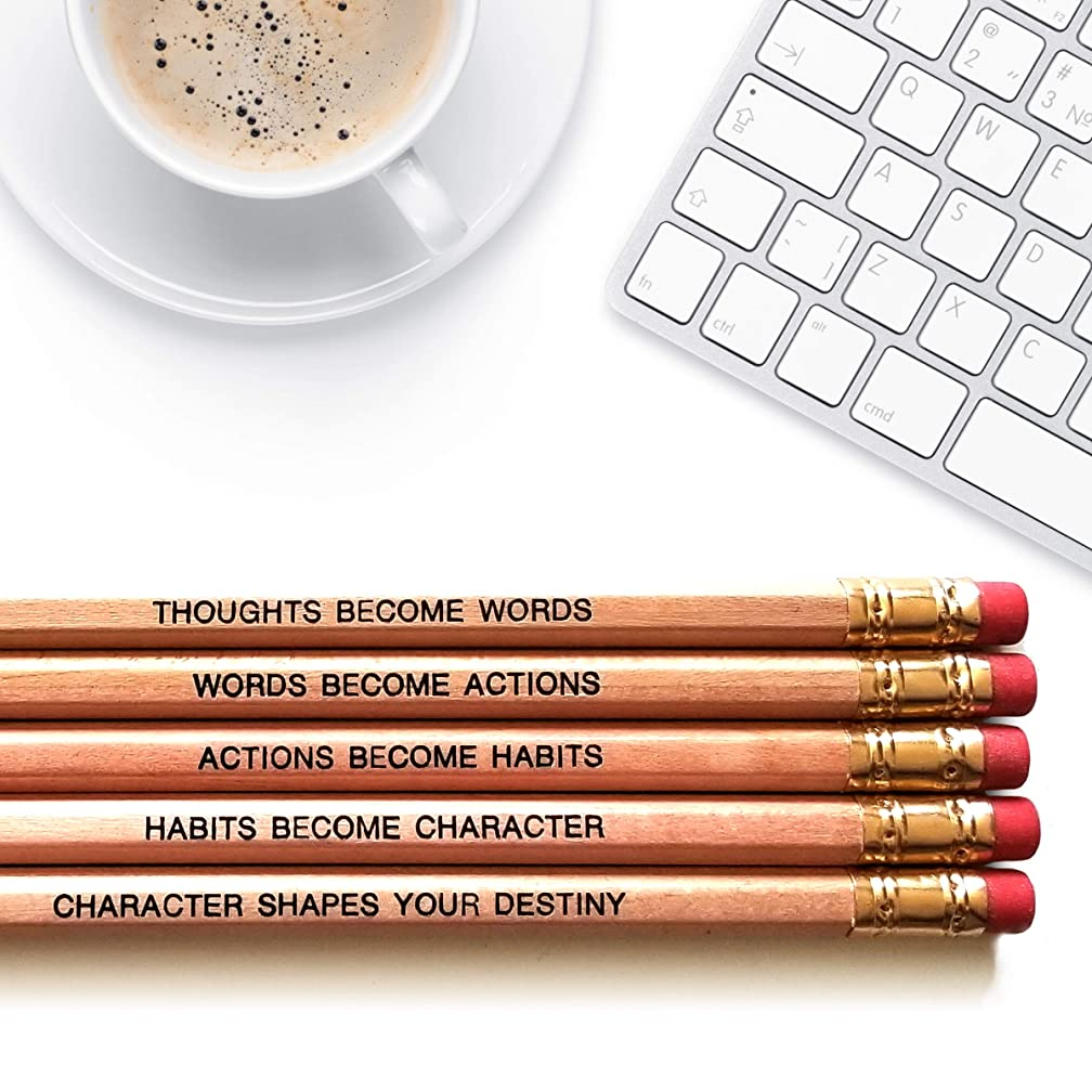 Gandhi Quote Inspirational Pencils