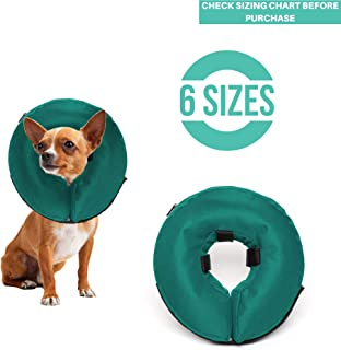 ProCollar Protective Inflatable Recovery Collar for Dogs and Cats - Soft Pet Cone Does Not Block Vision E-Collar - Designed to Prevent Pets from Touching Stitches, Wounds and Rashes