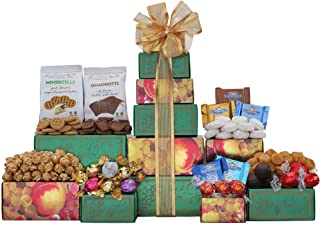 Wine Country Gift Baskets Ghirardelli, Godiva Chocolate & More Gift Tower. Christmas Chocolate Gift Basket. Holiday Gift Tower. Perfect for Family Gifts, Corporate Gifts, Token Of Appreciation Gift