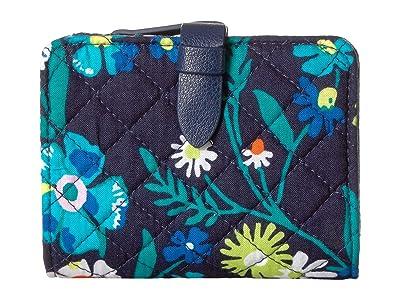 Vera Bradley Iconic RFID Small Wallet (Moonlight Garden 1) Wallet Handbags