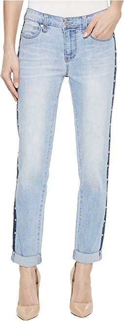 Perry Slim Boyfriend with Side Studs in Vintage Super Comfort Stretch Denim in Pixley