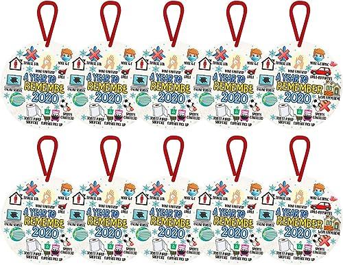 wholesale 2020 Christmas Ornament wholesale Decoration, Xmas Tree Hanging Decoration, Disc Wooden online sale Ornament Home Holiday Décor - Toilet Paper Crisis and Quarantine - Personalized Christmas Ornament Hanging Pendant sale