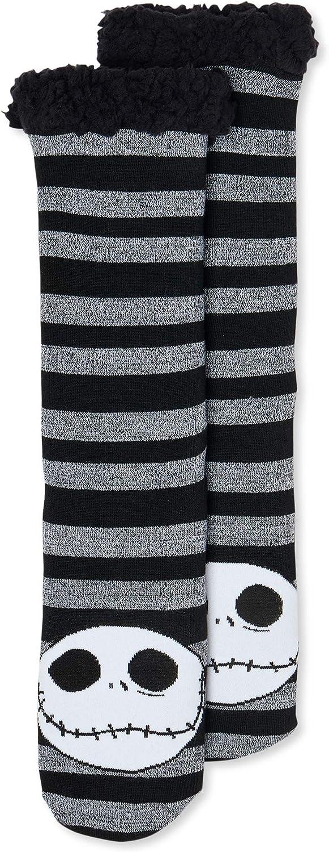 Disney's The Nightmare Before Christmas Women's Fuzzy Slipper Socks