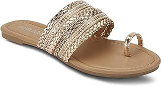 Ladies Embellished Slide with Toe Ring