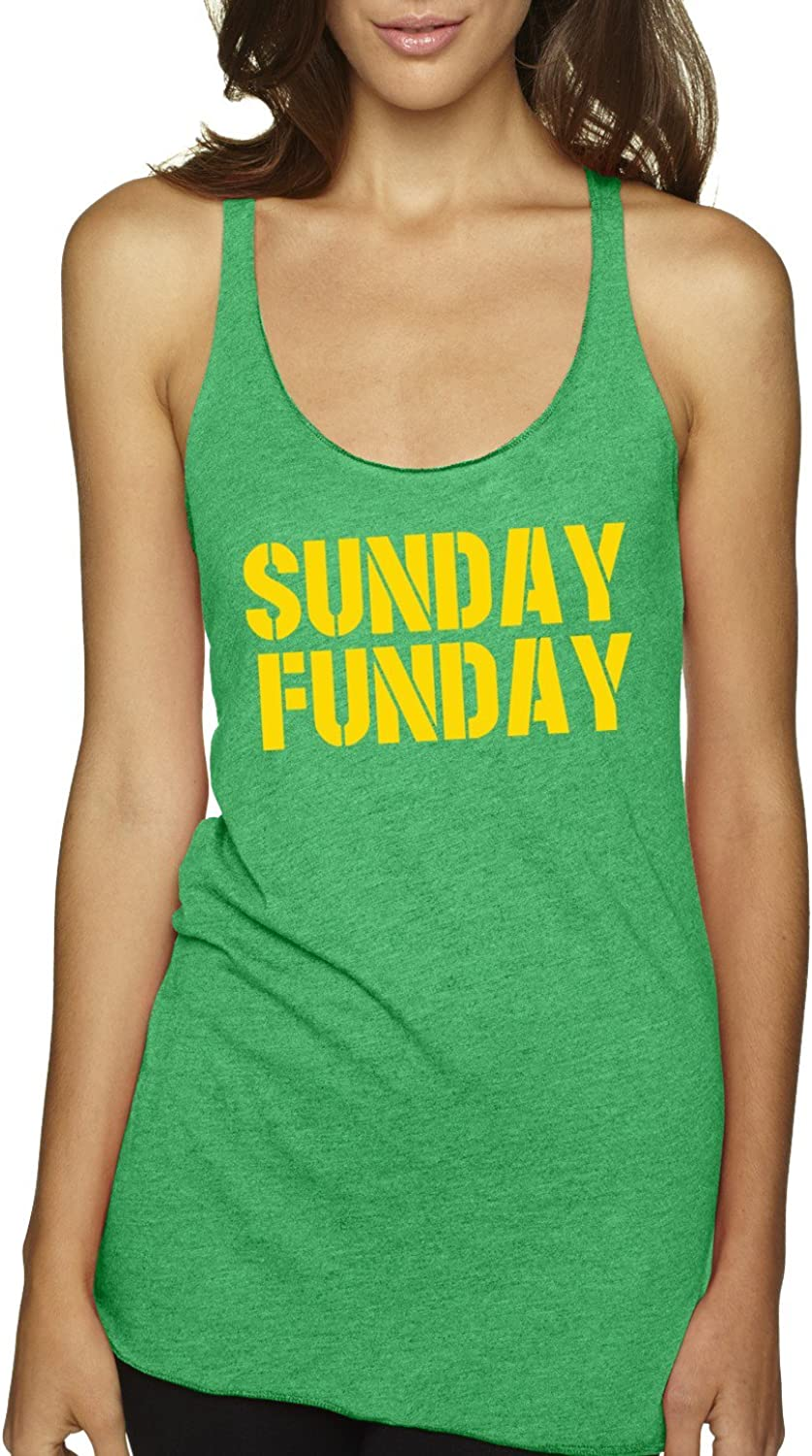 America's Finest Apparel Green Sunday Funday Tank  Women's