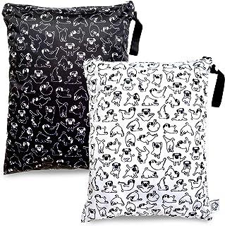 2 bolsas impermeables reutilizables y lavables, para ropa de bebé, para pañales, resistentes al agua, para viajes, artícul...