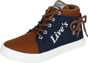 ETHICS Denim Brown Sneaker Shoes for Men