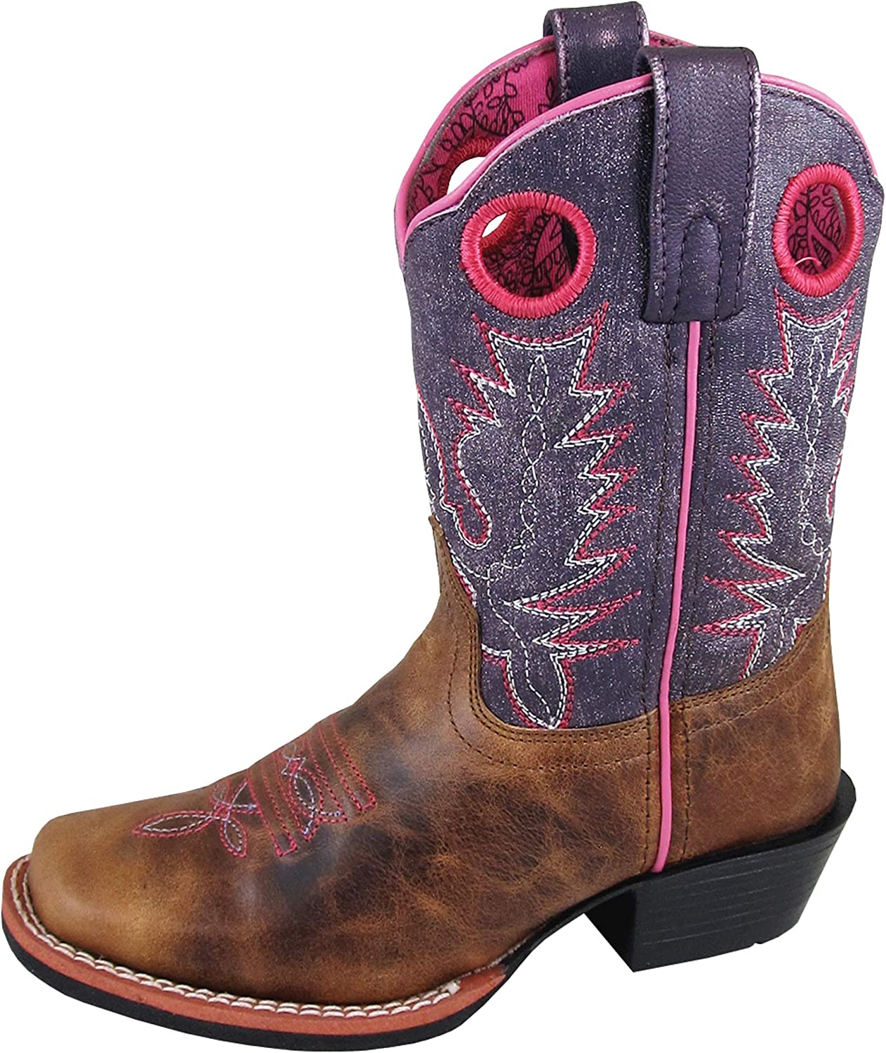 Smoky Mountain Boots Ellie Large special price !! Square Toe Children's Leather Wholesale