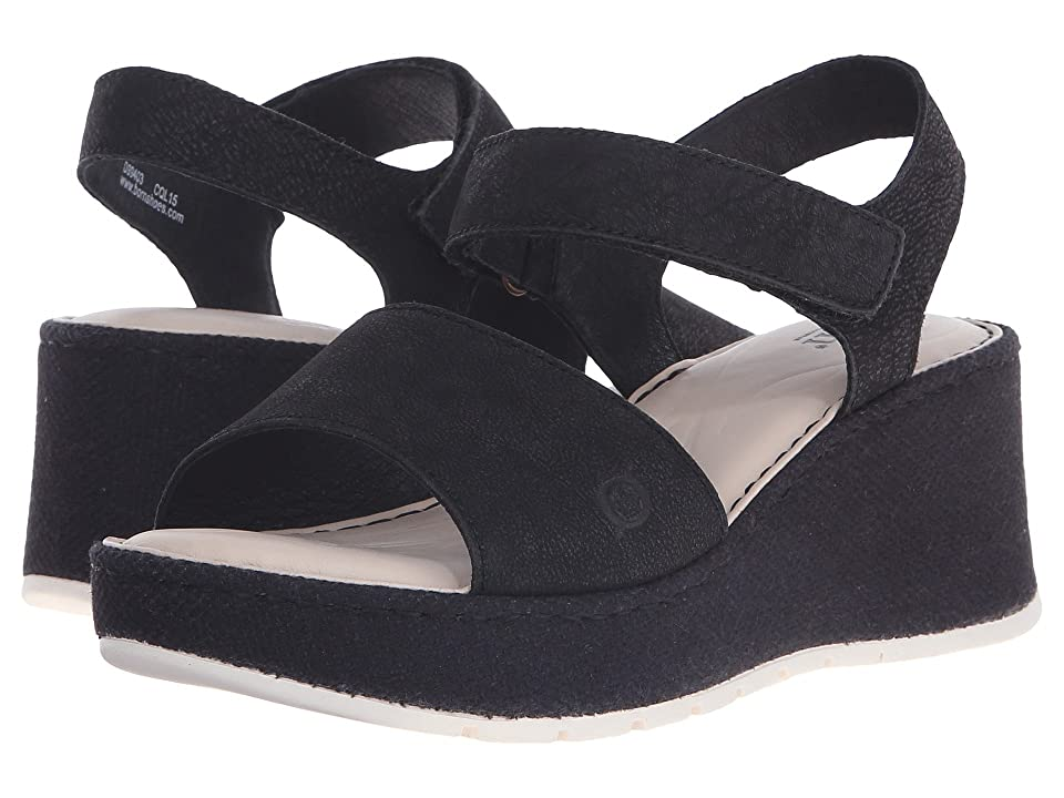 36f86bb57312  110.00 More Details · Born Lucee (Black Washed Nubuck) Women s Wedge Shoes