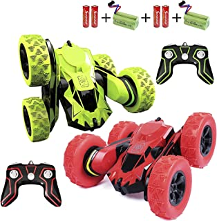 Haktoys Radio Remote Control Stunt Car High Speed Double-Sided AWD Turbo Max RC Truck   Tuff RC Toy Vehicle for Kids, Two ...