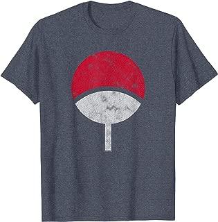 Naruto Sasuke Uchiha Symbol Distressed T-shirt