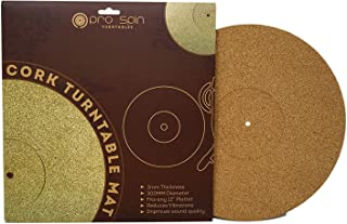 Cork Turntable Mat by Pro-Spin for Vinyl LP Record Players (3mm) High-Fidelity Audiophile..