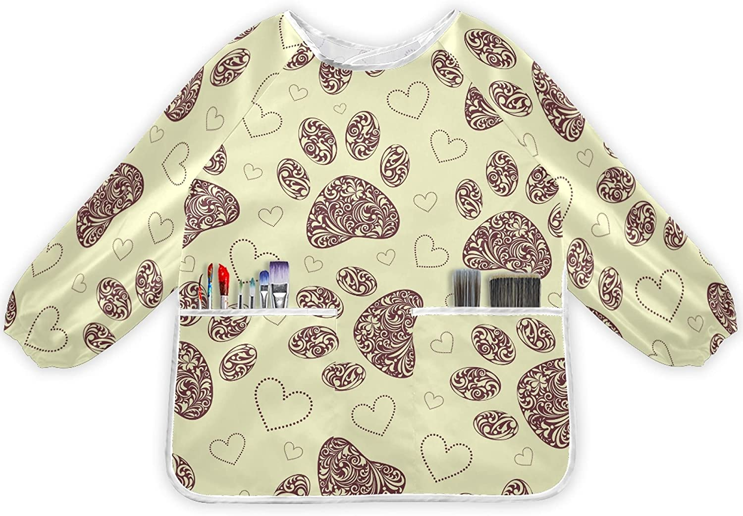 MNSRUU Free shipping on posting reviews Kids All items free shipping Art Smocks for 2-6 Artist Years Long Painting Sleeve