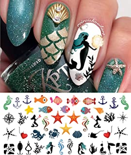 Nautical Nail Art Waterslide Decals Set #2 - Fishing Lures, Mermaids and More! - Salon Quality!!