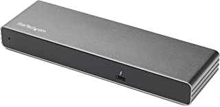 StarTech.com Thunderbolt 3 Dock - 85W Power Delivery - Dual 4K Monitor Docking Station with USB Type C & DisplayPort 2X DP | 1x HDMI | 1x VGA