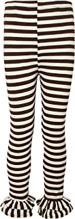 Ipuang Girl`s Cotton Ruffle Stripe Leggings
