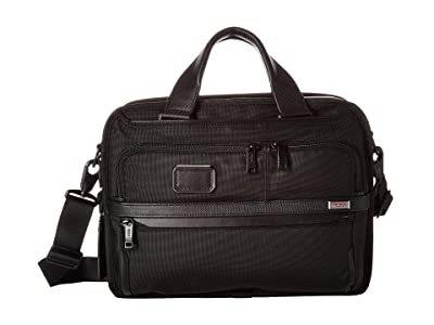 Tumi Alpha 3 Small Screen Expandable Laptop Brief (Black) Luggage