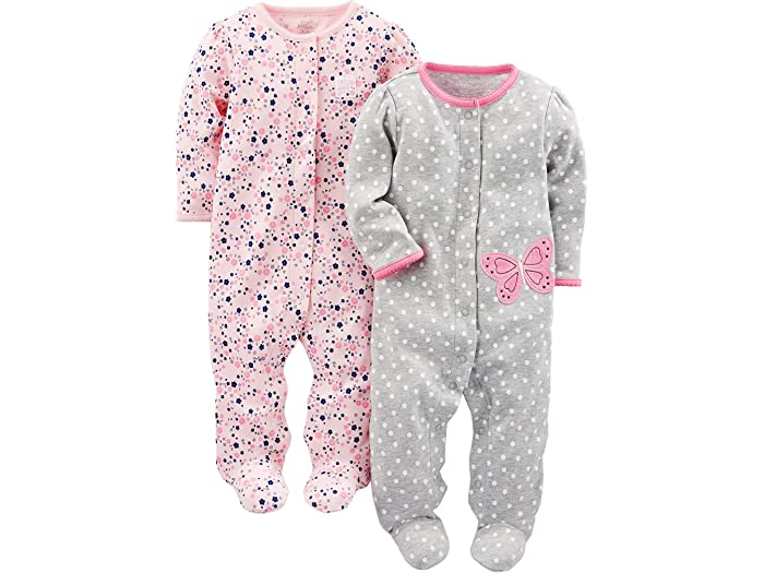 Lot de 2 Simple Joys by Carters 2-Pack Cotton Footed Sleep and Play B/éb/é Fille
