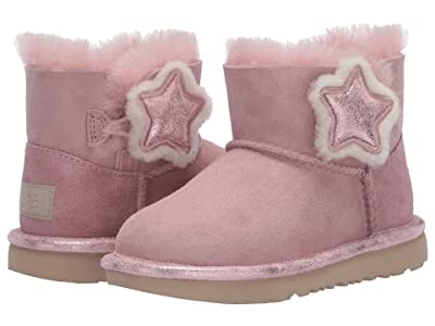 UGG Kids Mini Bailey Button II Star (Toddler/Little Kid) (Pink Crsytal) Girl