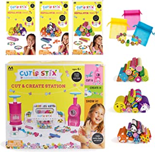 Cutie Stix Maya Toys Cut & Create Station Plus Refill Sets and Bags for Jewelry Making