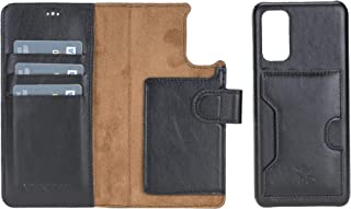 Venito Florence Leather Wallet Phone Case Compatible with Samsung Galaxy S21 - Extra Secure with RFID Blocking - Detachabl...