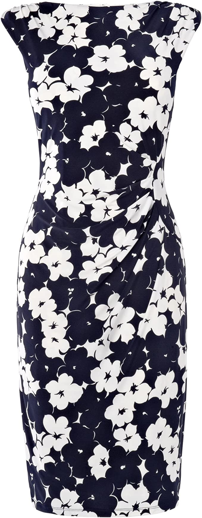 Phase Eight Damen Pansy Kleid Blau Navy Ivory 38 Amazon De Bekleidung