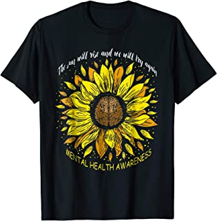 The Sun Will Rise And We Try Again Sunflower Brain TShirt
