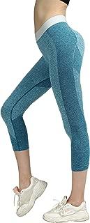 Workout Leggings Yoga Pants, Gym Athletic Tights for Women Mid Waist Seamless Running Sports Flex SEKERMAET Black Grey Teal