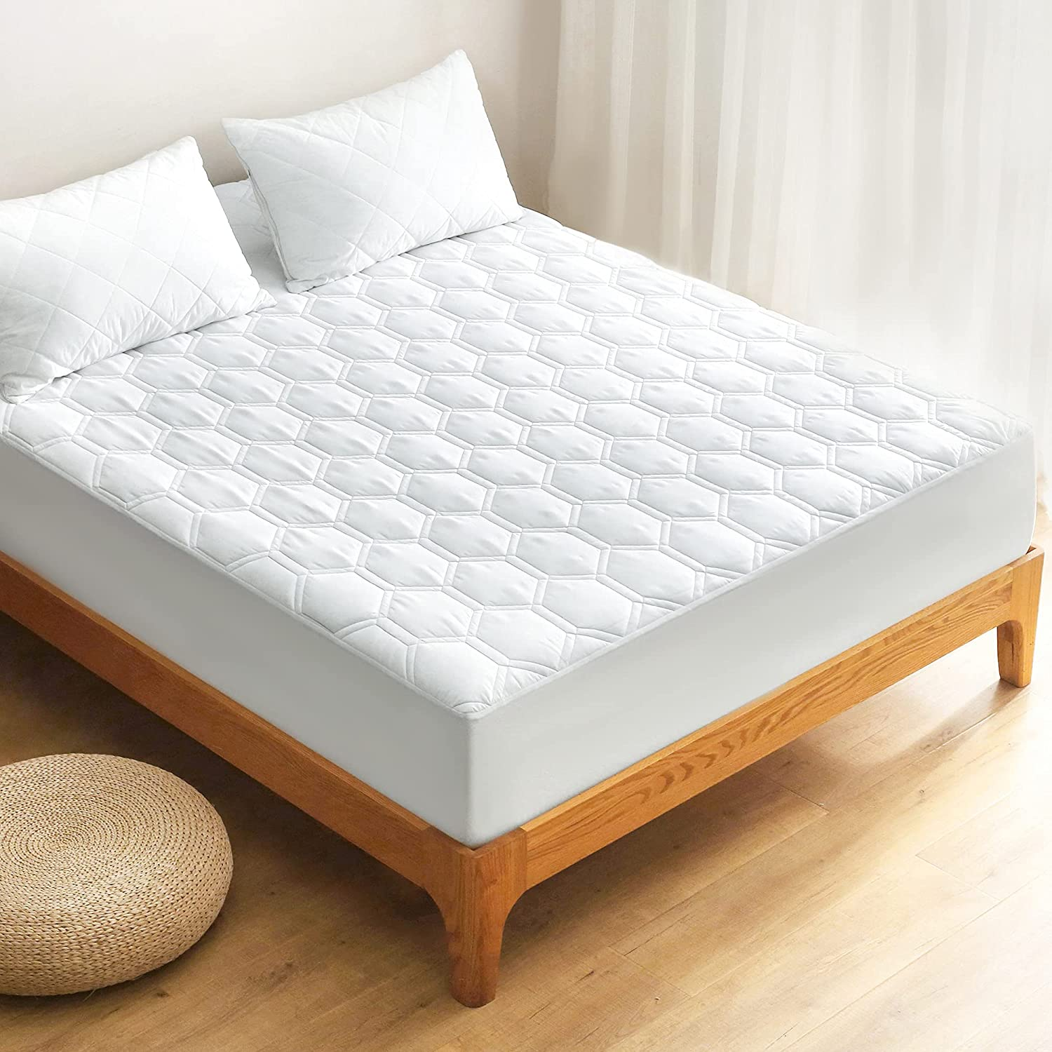 Waterproof Mattress Pad for Max 62% OFF Queen overseas Size Bed Mat Breathable