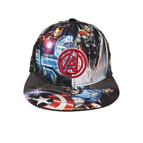 Marvel Avengers Boys Flat Bill Snap Back Baseball Hat e5894c23fb