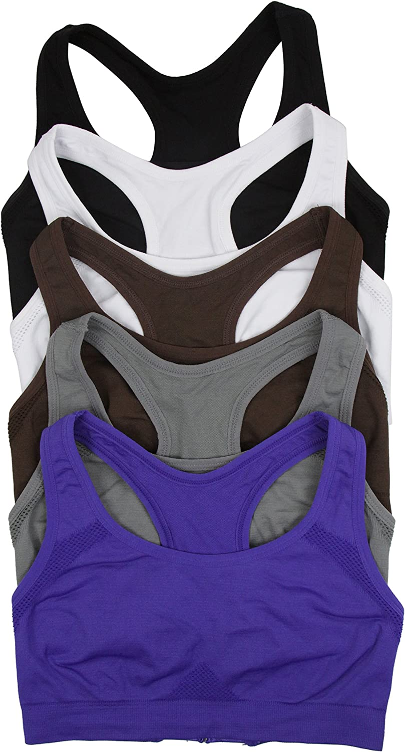 ToBeInStyle Women's Pack of 6 Layer Racerback Active Double Kansas Ranking TOP17 City Mall