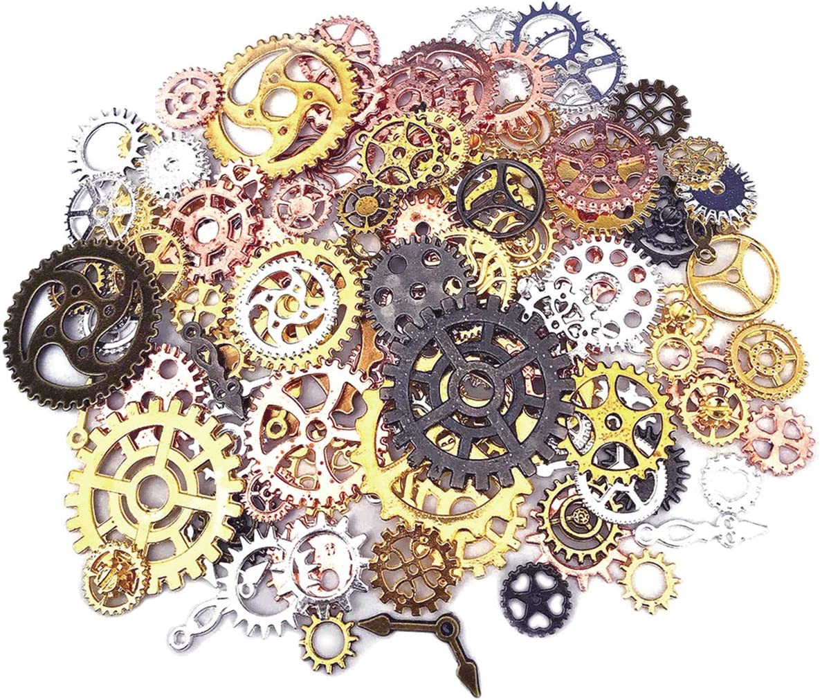 200 Gram Antique Metal Quality inspection Max 76% OFF Steampunk Pendant Charms Clock Gears DIY