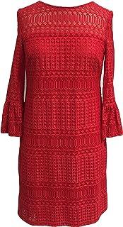 فستان نسائي من Sandra Darren من قطعة واحدة 3/4 كم جرس دانتيل ضيق