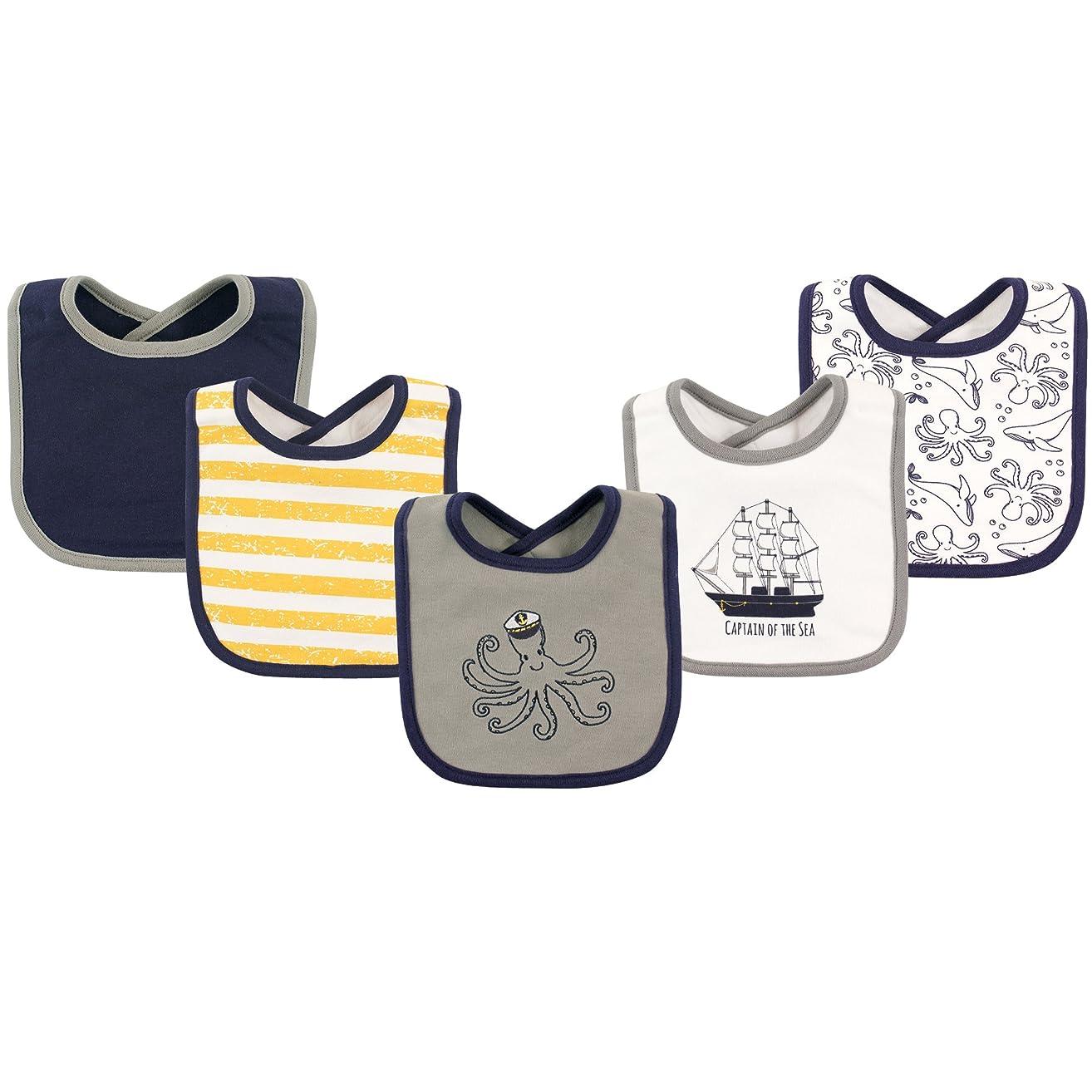 Hudson Baby Baby Cotton Drooler Bib, 5 Pack