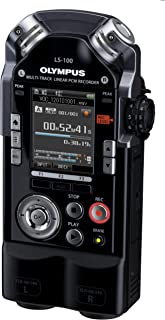 Olympus LS 100 Multi Track Linear PCM Recorder (2 XLR/Klinke Kombibuchsen, SDXC Kartenslot, 24bit/96Khz, 4GB interner Speicher)