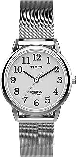 ساعة للنساء من تايمكس، بتصميم سهل القراءة وسوار شبكي، 25 ملم، موديل TW2U07900