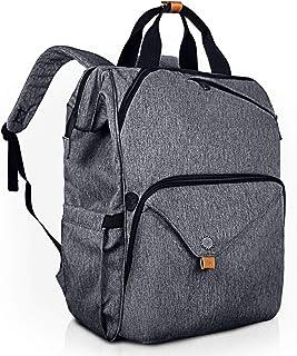Hap Tim Laptop Backpack 15.6/14/13.3 Inch Laptop Bag Travel Backpack for Women/Men Waterproof School Computer Bag Large Capacity Bookbag for College/Travel/Business (AE7651-BG)