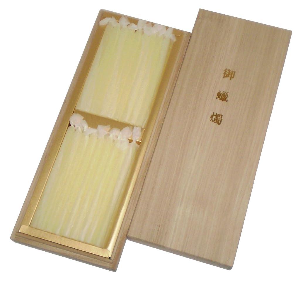処方置くためにパックシャッター鳥居のローソク 蜜蝋 あさみどり 3号54本入 桐箱 #100523