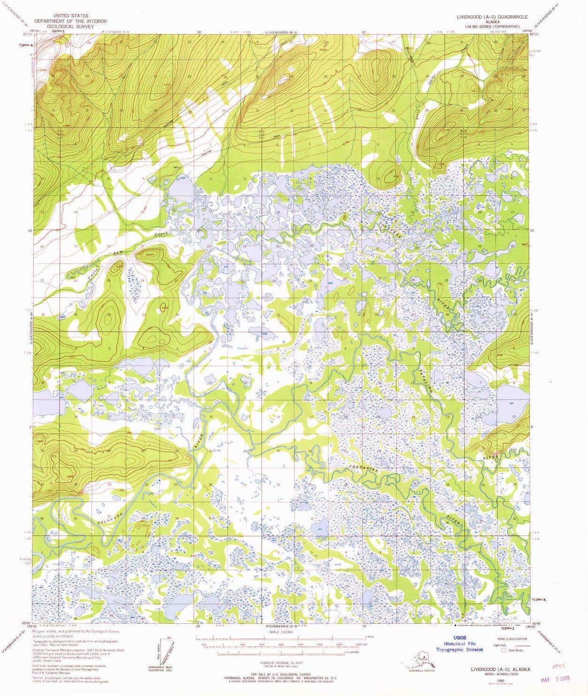 YellowMaps Livengood Max 42% OFF A 5 AK Cash special price topo map Scale Min 15 1:63360 X