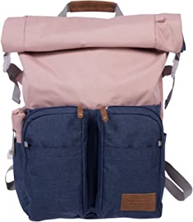 Roll Top Backpack with Laptop Sleeve and Chord Organizer
